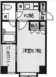 東京都文京区小石川1丁目の賃貸マンションの間取り