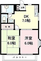 東京都江戸川区松本1丁目の賃貸アパートの間取り
