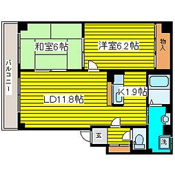 北海道札幌市東区北三十条東16丁目の賃貸マンションの間取り