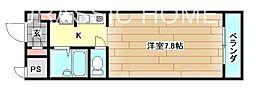 大阪府堺市中区土師町3丁の賃貸マンションの間取り