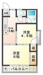 静和荘[201号室号室]の間取り