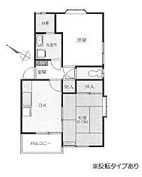コーポ慶II[201号室号室]の間取り