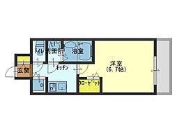 セオリー大阪城サウスゲート[505号室]の間取り