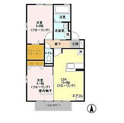埼玉県さいたま市浦和区木崎5丁目の賃貸アパートの間取り