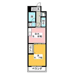 アルファレガロ西古松[7階]の間取り
