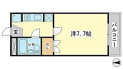 兵庫県姫路市御立中4丁目の賃貸マンションの間取り