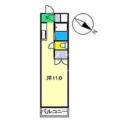 レジデンス優美36[4階]の間取り