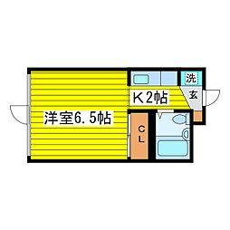 北海道札幌市東区北八条東8丁目の賃貸マンションの間取り