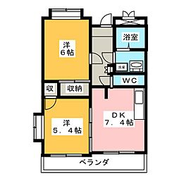 クリア高田[3階]の間取り