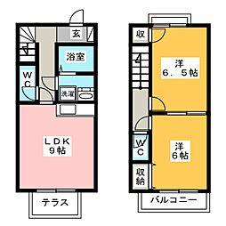 [テラスハウス] 静岡県浜松市西区大平台3丁目 の賃貸【/】の間取り