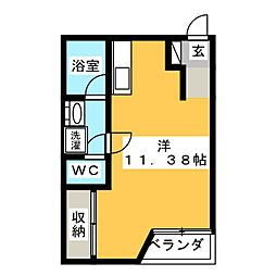 Aー1スクエア[E34号室]の間取り