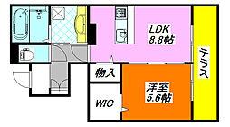 仮)新家西町ハイツ A棟 105号室[1階]の間取り