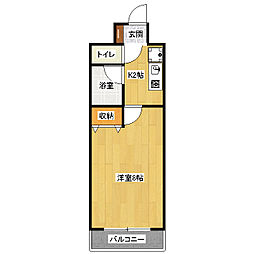 ピュア24[407号室]の間取り