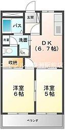 岡山県倉敷市生坂丁目なしの賃貸マンションの間取り