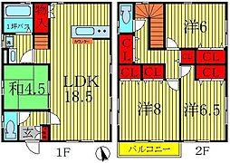 [一戸建] 千葉県我孫子市つくし野2丁目 の賃貸【/】の間取り