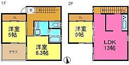 [一戸建] 愛知県名古屋市守山区大森2丁目 の賃貸【/】の間取り