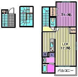 埼玉県さいたま市見沼区丸ケ崎町の賃貸アパートの間取り