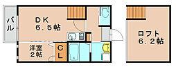 ビータス筥松弐番館[1階]の間取り
