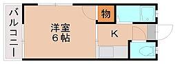 シティハイム竹下[2階]の間取り