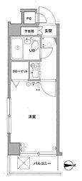 クレッセント武蔵小山[4階]の間取り