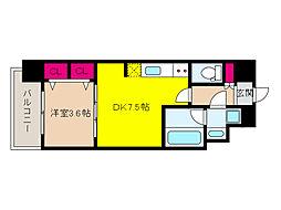 阪急神戸本線 王子公園駅 徒歩6分の賃貸マンション 3階1DKの間取り
