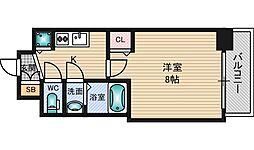 ディームス江坂[8階]の間取り