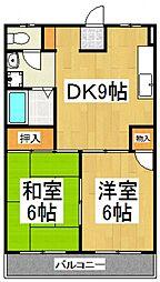 JUN東村山B棟[2階]の間取り