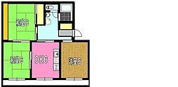 はぁーとマンション[303号室]の間取り