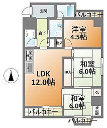 藤和新町コープ[4階]の間取り