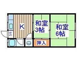 コーポ春岡[2階]の間取り