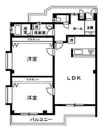 長寿堂恵佳IIBld 3階3LDKの間取り