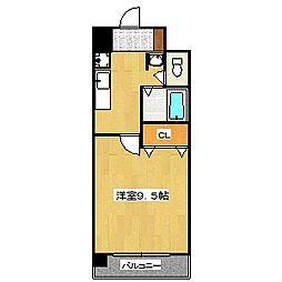 ハウスセゾン四条通[813号室]の間取り
