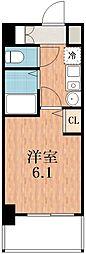 エステムコート四天王寺夕陽丘[2階]の間取り