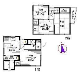 [一戸建] 東京都中野区本町6丁目 の賃貸【/】の間取り
