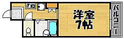 兵庫県川西市火打1丁目の賃貸マンションの間取り