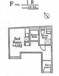 南平台EAST(A棟)[203号室]の間取り