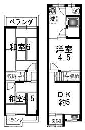 [一戸建] 大阪府枚方市牧野阪1丁目 の賃貸【/】の間取り
