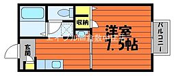 水島臨海鉄道 弥生駅 徒歩36分の賃貸アパート 2階1Kの間取り
