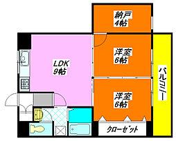 高井田青山ビル 501号室[5階]の間取り