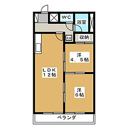 竹林マンション2[3階]の間取り