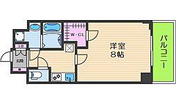 レジデンス大阪城東アペリオ 2階1Kの間取り