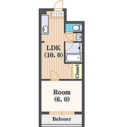 桜川マンション[8階]の間取り