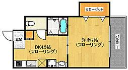 シャトーヤマモト[202号室]の間取り