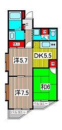 キャニオンマンション南浦和[3階]の間取り
