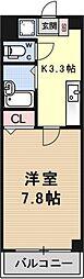 パレ岡本[610号室号室]の間取り