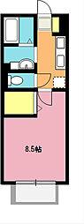 埼玉県北足立郡伊奈町大字大針の賃貸アパートの間取り
