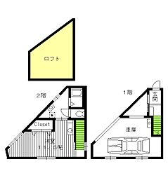 [一戸建] 東京都板橋区東山町 の賃貸【/】の間取り