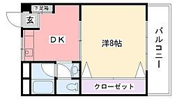 曙コーポ[416号室]の間取り