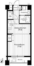 堂島プライマリーワン[5階]の間取り