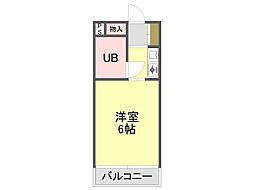 シャンブルド甲東園[3階]の間取り